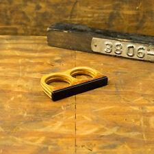 Ebony wood double ring