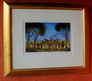 """PRO HART """" Country Races"""" Giclee Print ed 129/150 Beautifully Presented"""