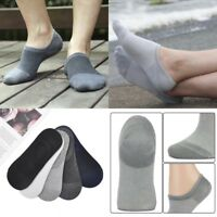 5 Pairs Men Cotton Invisible No Show Nonslip Loafer Boat Liner Low Cut Socks Lot