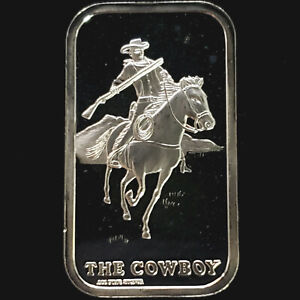 The Cowboy 1 oz 0.999 Fine Proof Silver Bar - The Lincoln Mint - No Reserve