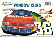 NASCAR WINCRAFT STICKER ERNIE IVAN #36 WINDOW CLING  DECAL FROM 1999 SKITTLES