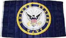 3x5 Blue US Navy Crest Seal Emblem Flag 3'x5' Nylon Poly House Banner Grommets