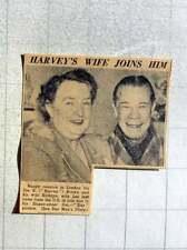 1949 Joe Harvey Brown Happy Reunion With Wife Kathryn Sloane Street Flat