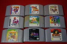 Lot of games N64 Nintendo 64 Zelda pokemon pikachu sports japannes only