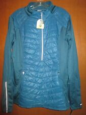 NWT XXL CHAMPION VenturWarmth Teal Blue 1/2 Zip Jacket Pullover Ret$40ThumbHoles