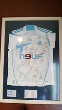 Réel Maillot  de l'Olympique De Marseille Saison 2006-2007 signé par l'equipe