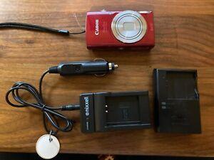 Canon PowerShot ELPH 180 20.0 MP Digital SLR Camera - Red