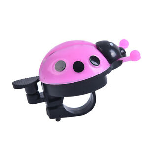 Bicycle Bell Ring Beetle Cartoon Cycling Bell Cute Kids Ladybug Ring Acce_da