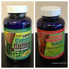 GARCINIA CAMBOGIA EXTRACT 1000 mg HCA 60% & PURE GREEN COFFEE BEAN EXTRACT 800mg