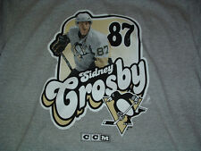 SIDNEY CROSBY #87 PITTSBURGH PENGUINS GREY T-SHIRT YOUTH X-LARGE (18-20) NWT