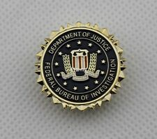 FBI Federal Bureau of Investigation Dept of Justice Logo Seal Suit Lapel Pin