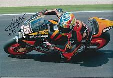 Alex De ANGELIS SIGNED NGM ITALY MOTO GP Autograph 12x8 Photo MOTO2 AFTAL COA