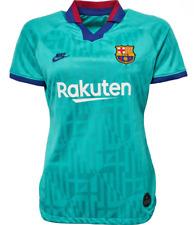 FC BARCELONA Womens Green 2019/20 NIKE 3rd Away Football Shirt Small 10 BNWT