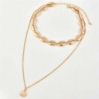 Women Fashion Beach Sea Shell Cowrie Pendant Choker Necklace Jewelry Gift New