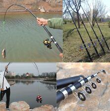 2.1M Superhard Carbon Fiber Fishing Rod Telescopic Rods Spinning Poles Kit