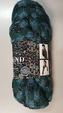 Sirdar Spellbound Brushed Lace Scarf Yarn with FREE PATTERN #11 Blue / Black
