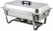 Winco C-4080 - 8 Quart Full-Size Stainless Steel Chafer W/Folding Stand- New