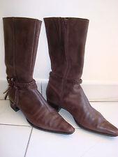 bottes en cuir marron SAN MARINA, pointure 37