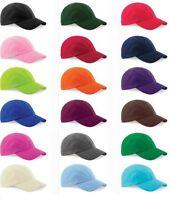 Kids Childs Boys Girls Adjustable Original Plain Baseball Cap 100% Cotton Blank