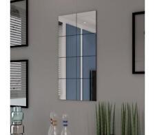 8 Pcs Frameless Glass Mirror Tiles Wall Bathroom Hallway Bedroom DIY Decor