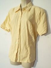 Sz X 0X CJ Banks pale yellow top shirt blouse career womens s/s plus