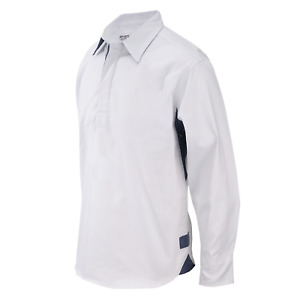 SPORTS CLUB -  LADIES DRILL SHIRTS  CONTRAST SLEEVES & SIDE PANEL RUGBY SHIRT