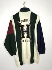 Vintage 90'S Tommy Hilfiger Kayak Big Logo Rugby Shirt Color Block Hip Hop Rap