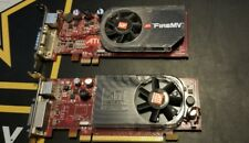 ATI FireMV  Graphics Card Low Profile  plus Radeon  ( lot of 2 ) video