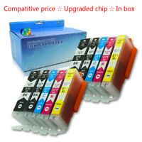 PGI570 CLI571 10 Ink Cartridges for Canon Pixma Set MG5750 MG5751 MG5752 MG5753