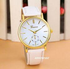 Ladies Fashion Analog Wrist Watch Leather Strap Quartz Various Colours UK Seller
