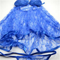 Sexy ladies women's lace lingerie nightwear sleepwear Babydoll Chemise Pyjama