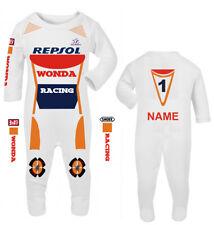 Moto Baby Grow Babygrow Repsol WONDA Racing surpyjama Wiz Knee Slider UK