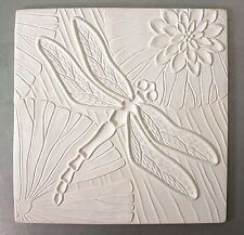 10.25x10.25 Inch Dragonfly Texture Tile Mold for Glass Slumping Kiln