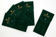Promo 4+1 Watch Box ROLEX Tessuto Floccato Verde Marchio Oro Ottima Qualità