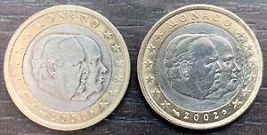 Monaco 2 Monedas De Bu 2001 Y 2002