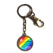 Gay Pride Rainbow Flag Keychain Key Chain Key Ring Cute Keyring Car Cosplay