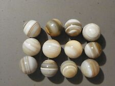 Agate Marbles Banded Bullseye 12 Of 28 to 31 MM. Natural Gemstones