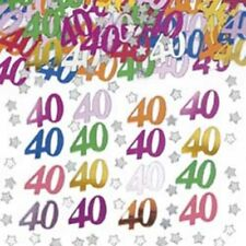 Age 40 Multi-Coloured Table Confetti