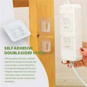Modern Anti-Slip Self Adhesive Double-Sided Hook Strong Hanger Transparent