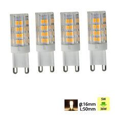4X G9 LED 5W 51SMD 2835 Lampe Sparlampe Stecklampe Leuchtmittel Warmweiß Birne