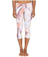 NWT $78 Alo Yoga Airbrush Capri Crop Pants in Modernist Multi Color sz L