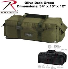 Olive Drab Green Cotton Canvas Rothco HD Israeli Style Large Duffle Bag 8137 596bcaa7b8c5b