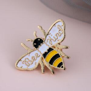 Women Men Cartoon Bee Kind Enamel Pin Cute Honey Bee Animal Badge Brooch Pins^-^