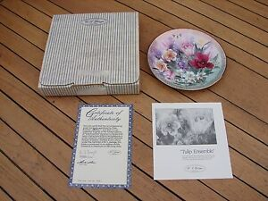 W J George  Shimmering Beauty Plate 2 Lena Liu Tulip Ensemble 2nd Boxed COA