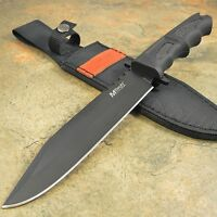 Mtech USA Tactical Rubber Handle Survival Hunting Fixed Blade Knife with Sheath