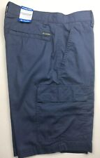 Columbia Mens Cargo Shorts 30 Blue Modern Classic Cotton UPF 50 NEW