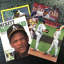 Lot of 7 Beckett Baseball Card Monthly Magazine Price Guide 1989 - 2001