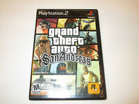 Grand Theft Autp San Andreas  Ps2  With Manual in Very Good  Condtion Free Ship