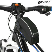 BV Bicycle Wedge Frame TopTube Bag with Flip-Top Opening Black Cycling NEW TB121