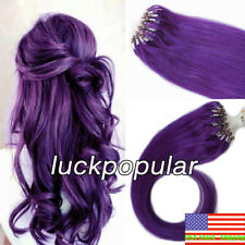 Micro Ring Beads Loop Tip Link 100% Real Remy Human Hair Extensions Straight US